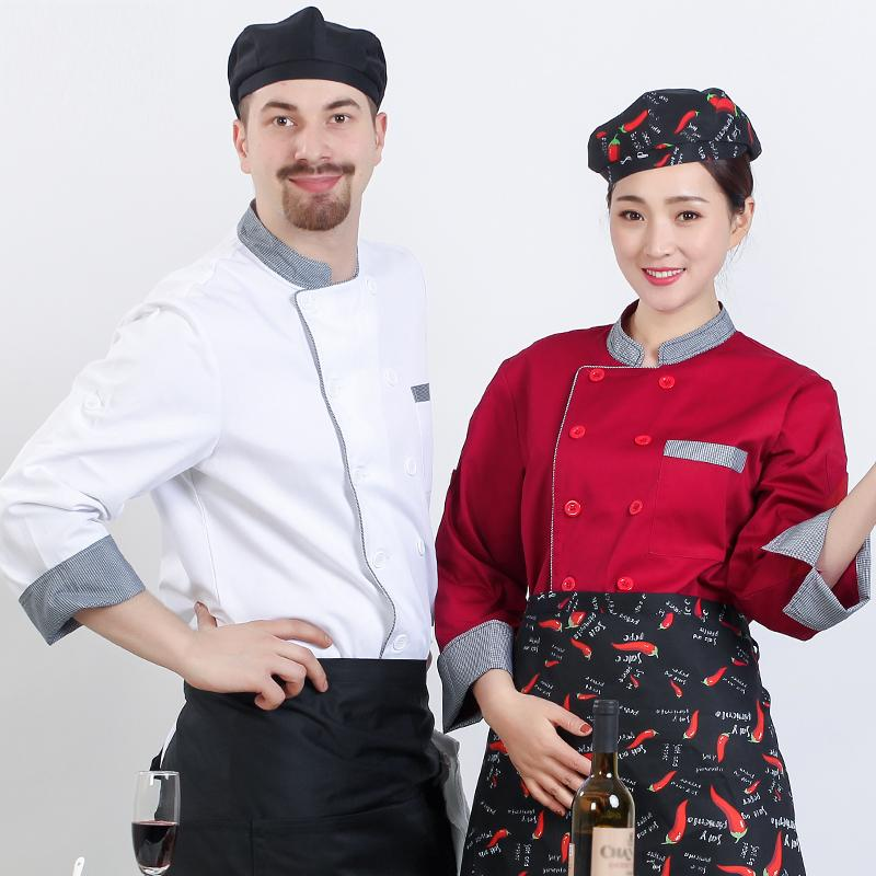 Chefs Work Clothing Mens Short Sleeve Hotel Breathable Uniform Western Restaurant High Quality Cotton Workwear Free Shipping