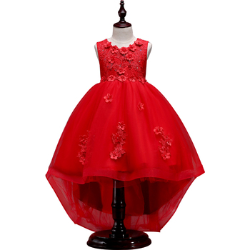 25251bd445 Natal vestido para 3-10 anos menina festa vestido de princesa vestido de  Renda Floral crianças vestidos crianças vestido de festa de Aniversário Da  Menina ...
