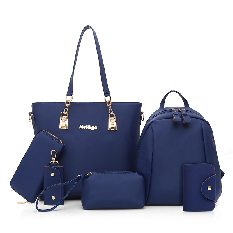 New Women Bags 6 Pcs/set Women's Composite Bag Nylon Handbags Oxford Bag Waterproof Shoulder Bag