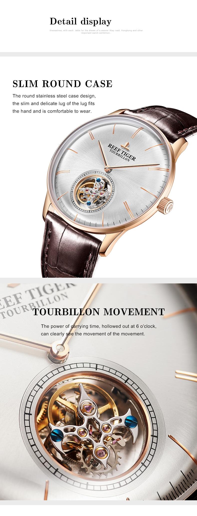 relógio mecânico para homem rosa ouro pulseira