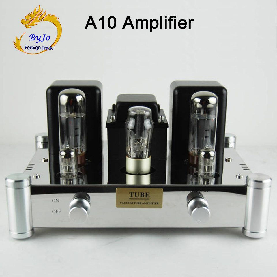 цена на ByJoTeCH A10 EL34B Single-ended 5Z4PJ Vacuum Tube Amplifier Rectifier Hifi Stereo Audio Power Amplifier