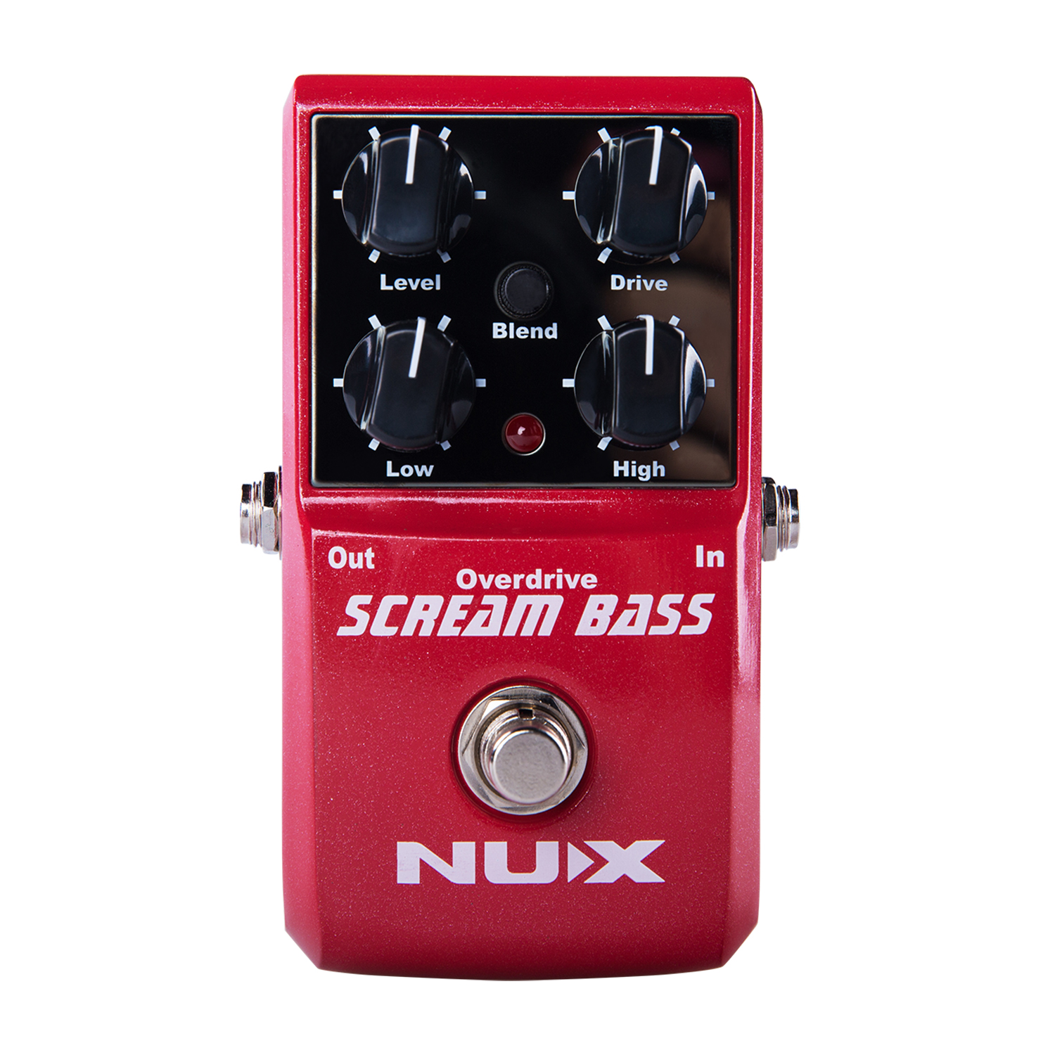 NUX Scream Bass Overdrive Guitar Effect Pedal Mix True bypass Gain Level High Low Controls Analogue Circuit Gain electric guitar pedal bass true bypass effect white custom biyang controls level top treble guitarra pedales new