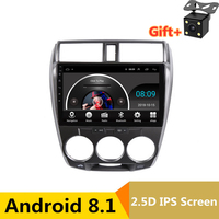 10 2.5D ips Android 8,1 Автомобильный мультимедийный dvd плеер gps для Honda CITY 2008 2009 2010 2011 2012 2013 аудио Радио стерео навигации