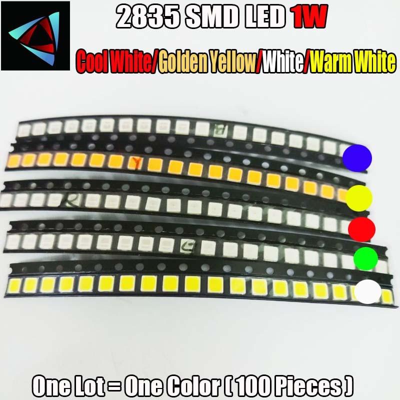 100 шт. 2835 1 Вт Ультра яркий SMD светодиодный индикатор холодный белый/золотой желтый/белый/теплый белый светодиодный комплект|Диоды|   | АлиЭкспресс - Радиодетали