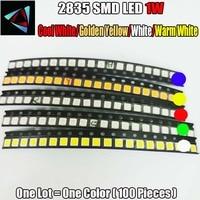 led warm 100pcs 2835 1W Ultra Bright SMD Led Values Cool White/Golden yellow/White/Warm White LED kit (1)