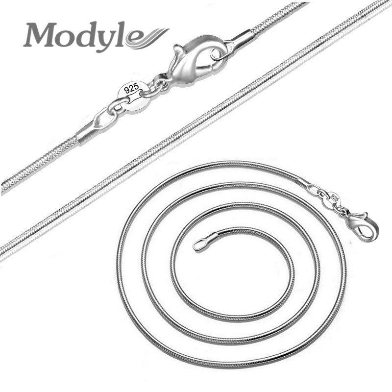 Mostyle Новинка хит 1 мм модное серебряное ожерелье-цепочка в виде змеи для женщин и мужчин 14-38 дюймов
