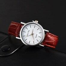 New Fashion Leather Watches Women ladies quartz wristwatch casual dress Clock reloj mujer Montre Femme Zegarek Damski