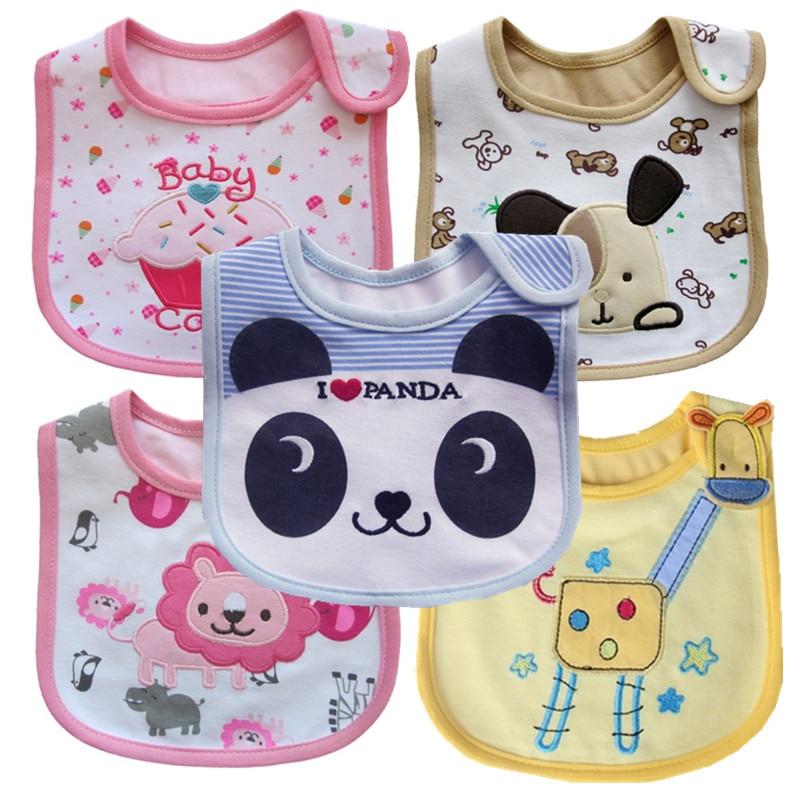 Newborn Infant  Toddler Baby Bibs Boy Girl Saliva Towel Kids Bib Feeding 8Pcs