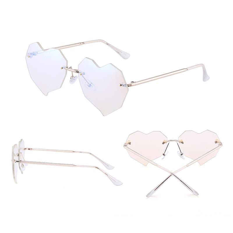 Jim Halo Heart gafas de sol sin montura mujeres irregulares claro - Accesorios para la ropa - foto 5