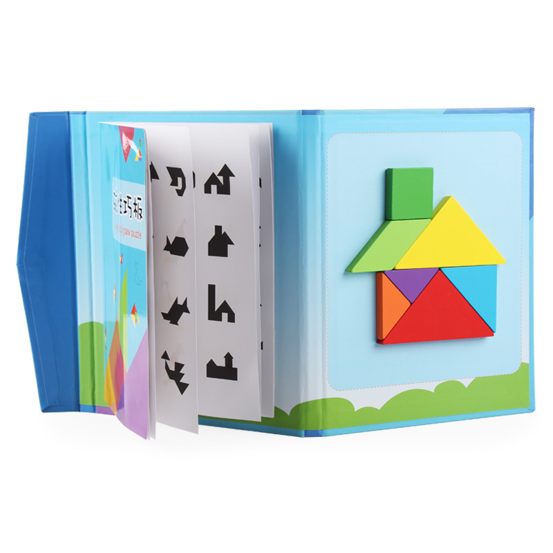 Magnetic Puzzle Jigsaw Educational Toy Tangram Puzzles For Children Birthday Gifts Kids Toys