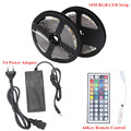 10M DC 12V RGB LED Strip 5050 Fita LED Light Flexible Neon Ruban Tira Bande Led Tape + 5A Power Adapter + 44key Remote Control