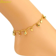 Diomedes Newest Bell & Stars Golden Anklet Women Fashion Ankle Bracelet Barefoot Sandal Beach Foot Jewelry Trendy Jewelry