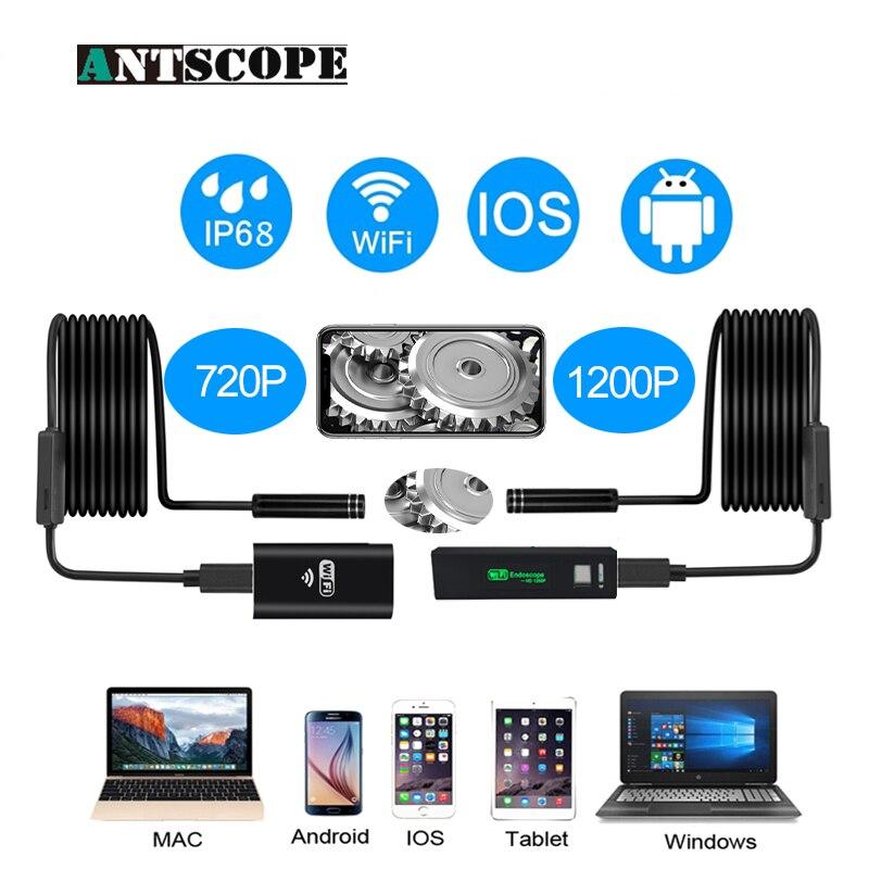 Antscope Wifi endoscopio Cámara Iphone Android Borescope impermeable Cámara endoscópica Semi rígido tubo duro iOS Wifi Cámara 40
