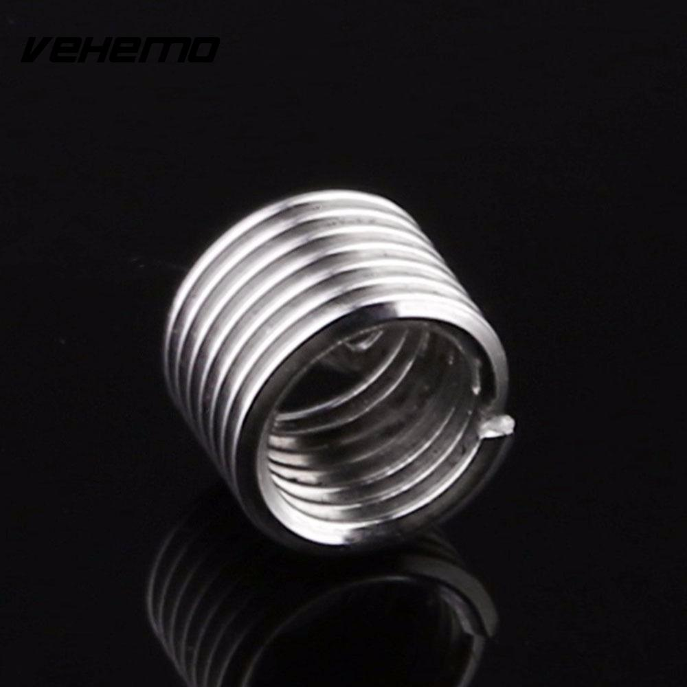 VEHEMO Car Automotive Truck Stainless Steel Helica Thread Repair Inserts Spare Coil Kit Tool M6 1.0MM Vehicle With Wrenth Drill
