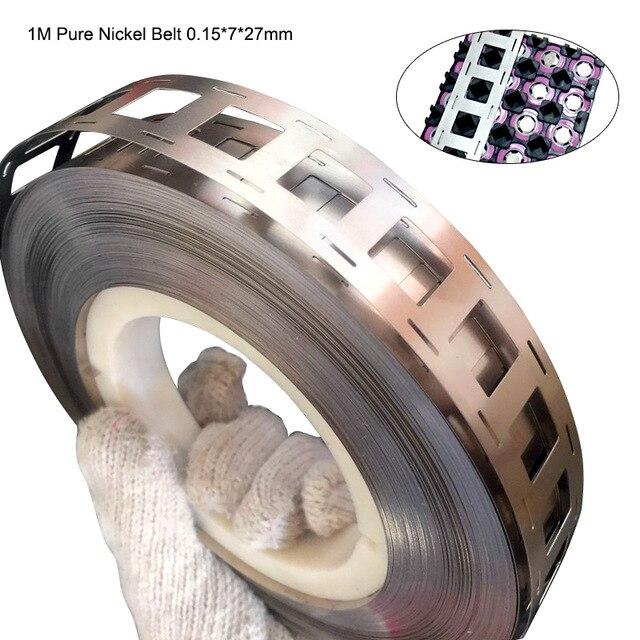 18650 nickel, haute pureté Nickel pur ceinture lithium batterie nickel bande Li-ion batteries Ni plaque utilisée pour 18650 1 mètre