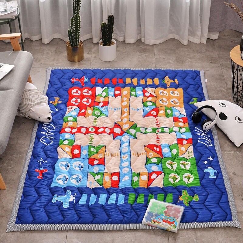 Grand tapis de jeu de bébé doux de bande dessinée enfants tapis tapis enfants chambre tapis de sol garçon fille tapis de jeu tapis d'activité de bébé pour les enfants - 4