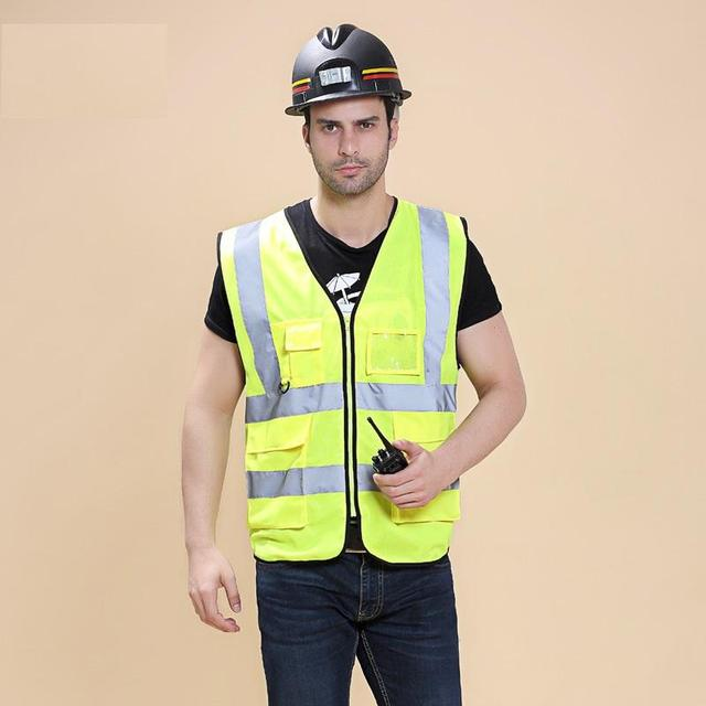 Multi-pocket vest reflective safety vest Construction safety warning clothing reflective vests