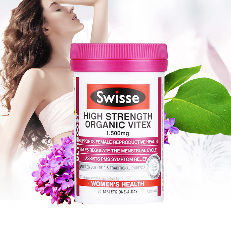 Australia Swisse Organic Vitex Support Female Women Reproductive Health Menstrual Cycle Regulation PMS Menopause Symptom Relief