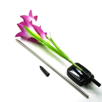 Purple LED Solar Power Lily Flower Garden Stake Light Color Changing Outdoor Garden Path Yard Decoration