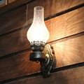 Винтажный настенный светильник из кованого железа  Ностальгический стеклянный Керосиновый Фонарь  настенный светильник  прикроватная лам...