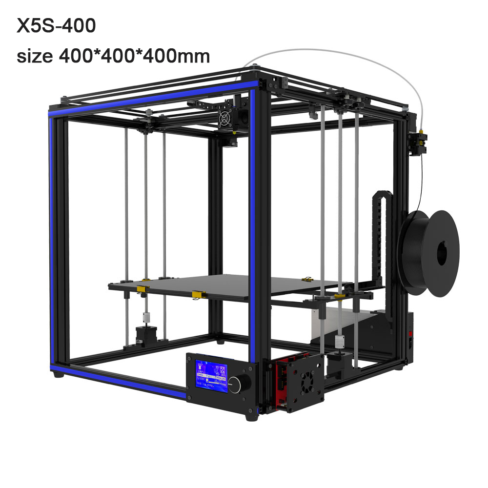 Free Tronxy X5S-400 3D Printer Large size 400*400*400mm heatbed High precision 3d printing rucelf 400
