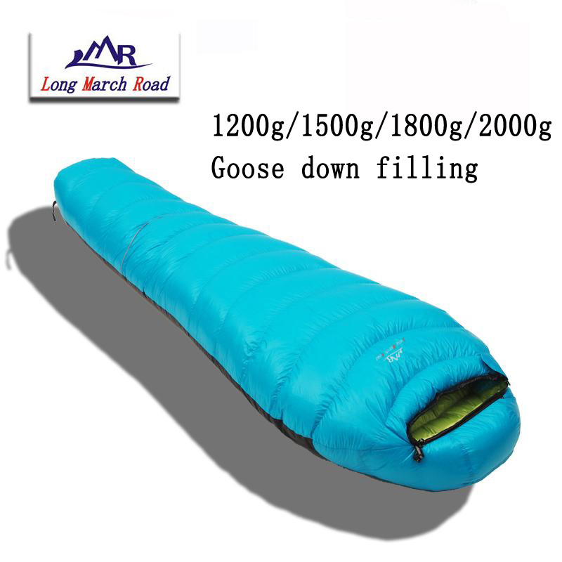 LMR марка ультралегкий може бути зрощування заповнення 1200g / 1500g / 1800g / 2000g білий гусячий спальний мішок
