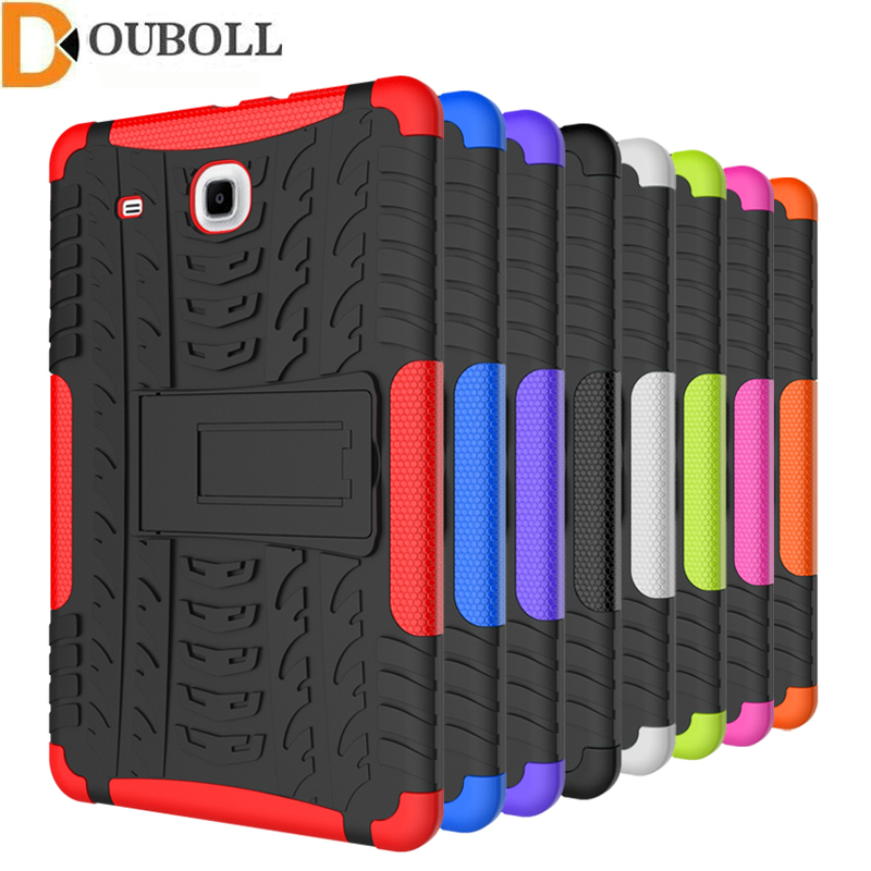 For Samsung Galaxy Tab E 9.6 T560 T561 inch Dual Layer Shockproof Case Heavy Duty Armor Kickstand Tablet Cover With Stand armor kickstand case funda for samsung galaxy tab s3 9 7 sm t820 sm 825 case cover tablet safe shockproof heavy duty stand shell