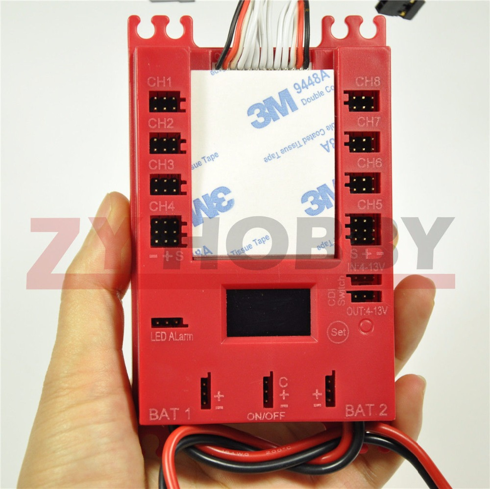 Mini Power DP Pro 4.8-9.7V Servo Section Board with Dual Power Input Wire штатив slik mini pro v