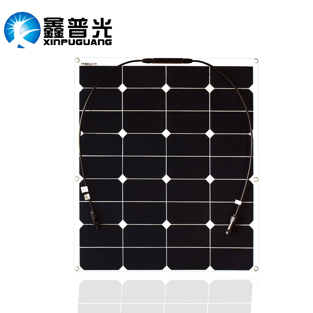 цена на BOGUANG 60W ETFE film flexible solar panel 12V solar panel solar cell yacht boat RV solar module for car RV boat battery