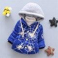 2016 Moda estilo novo bebê roupas de inverno meninas outerwear casaco Com Capuz casaco de algodão Desgaste Da Neve Do bebê