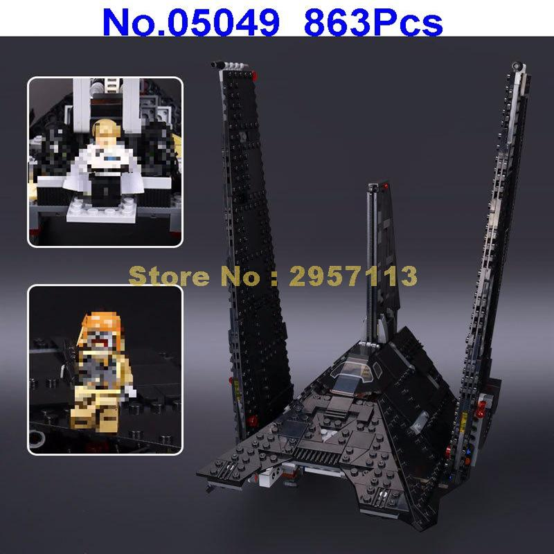 Lepin 05049 863pcs Star War Series Imperial Shuttle Building Blocks Compatible 75156 Brick Toy new 863pcs lepin 05049 star war series 75156 the imperial shuttle building blocks bricks toys compatible with lego gift kid set