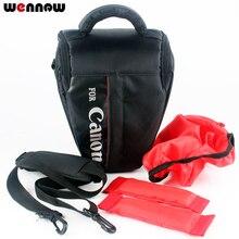 Wennew DSLR kamera çantası kılıf Canon EOS 80D 800D 6D Mark II 200D 1300D 1500D 750D 760D 77D 70D 9000D 8000D 4000D 2000D 7D 5D