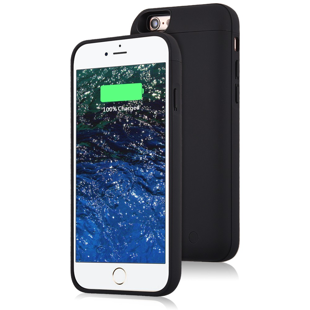 kujian black battery charger case for iphone 6 (2)
