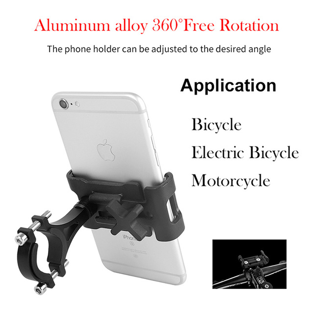 Full Aluminium Alloy Mobile Phone Holder Stands For Bicycle Motorcycle Metal Mountain Bike Road Bike Phone Holder for iphone x