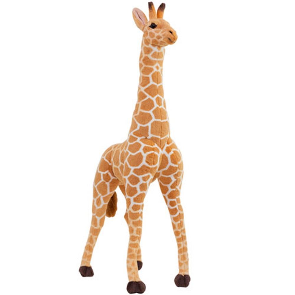 Simulation Giraffe Plush Toys Cute Stuffed Animal Soft Giraffe Doll Kawaii Brinquedos Birthday Gift Kids Toy 60G0680 cikoo stuffed toys lovely simulation animal doll plush sleeping cats toy with sound kids toy decorations birthday gift for child