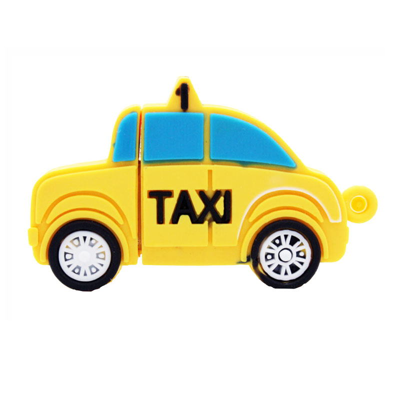 New Taxi Pen Drive Card USB Flash Drive Hot Sale Usb Flash Disk 4GB 8GB 16GB 32G  Free Shipping Usb Stick Yellow Card Boy Gift