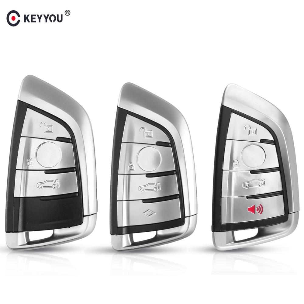 KEYYOU 3/4 Button Smart Car Remote Keyless Entry Key Shell Case For BMW X5 F15 1 2 5 7 Series X1 X6 F16 G30 G11 F48 F39 Key