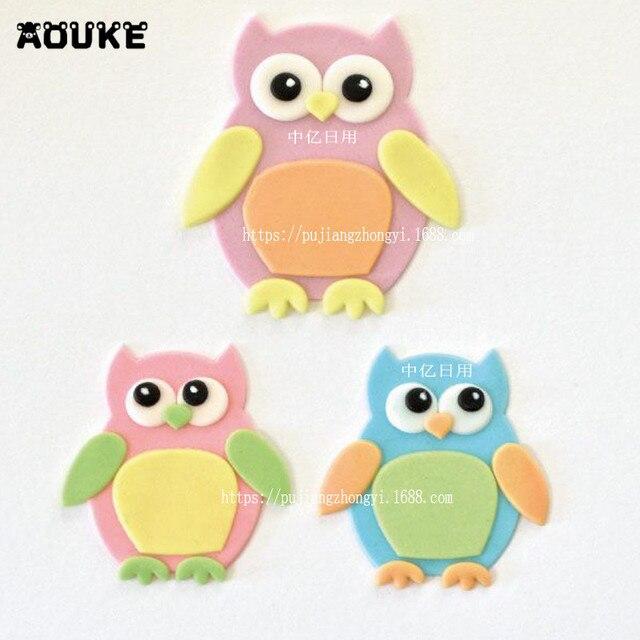 Aouke 4 Teile Satz 3d Eule Form Cuttter Kuchen Cookie Buscuit Cutter