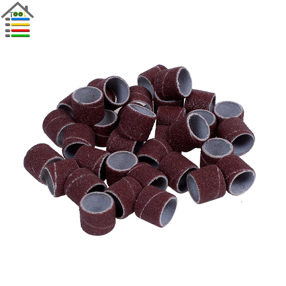 Sculpturing 100 PCS Drum Sander Set Silicon Carbide Abrasive Sanding Bands Sleeves with 4 Mandrel Dremel Rotary Kit for Dremel Rotary Tool Precision Grinding Dressing Buffing