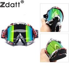 Zdatt Motorcycle Motocross Goggles Moto Glasses Windproof Mx Sunglasses Helmet Mask For Fox Racing Ski Mountaineering Skydiving