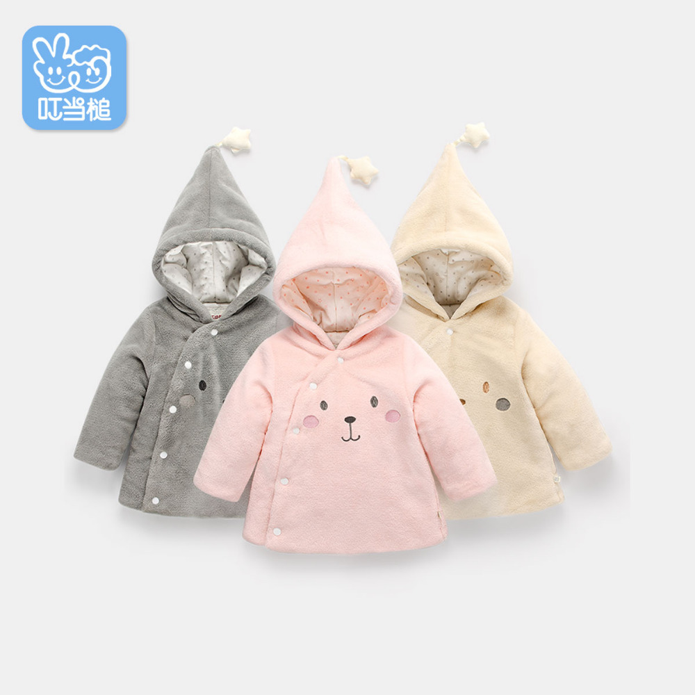 Dinstry Newborn autumn winter children's padded coat baby jacket Boys Girls thicken baby's cotton Overcoat 2017 top fashion promotion autumn winter jacket women cotton plus size coat thicken warm female hooded overcoat colors ok505