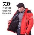 2017 Nuevo Daiwa Pesca parka chaqueta impermeable de dos piezas Juego Dawa transpirable mantener caliente Otoño y winterr daiwas envío libre