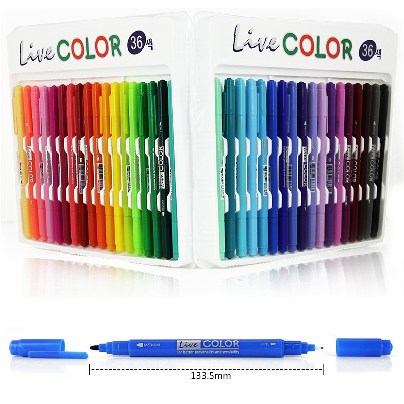 36 Colors Set Double ended Twin Tip Art Sketch Cartoon Marker Pens Marker Watercolor Pens Dual Nip Art Marker DIY Drawing Pen 0 4mm 24 colors art marker pen fine draw point 88 fineliner pens painting pencils children pens no tox drawing marker sketch