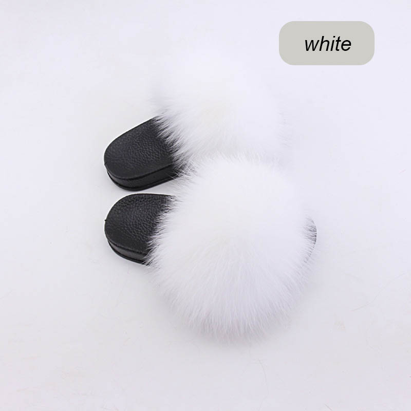 children slippers fox fur (22)