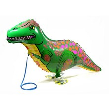 1PC 40x85cm Green Dinosaur Balloon Walking Animals Helium Balloons for Baby Shower Birthday Party Decorations Kids Classic Toys цена и фото