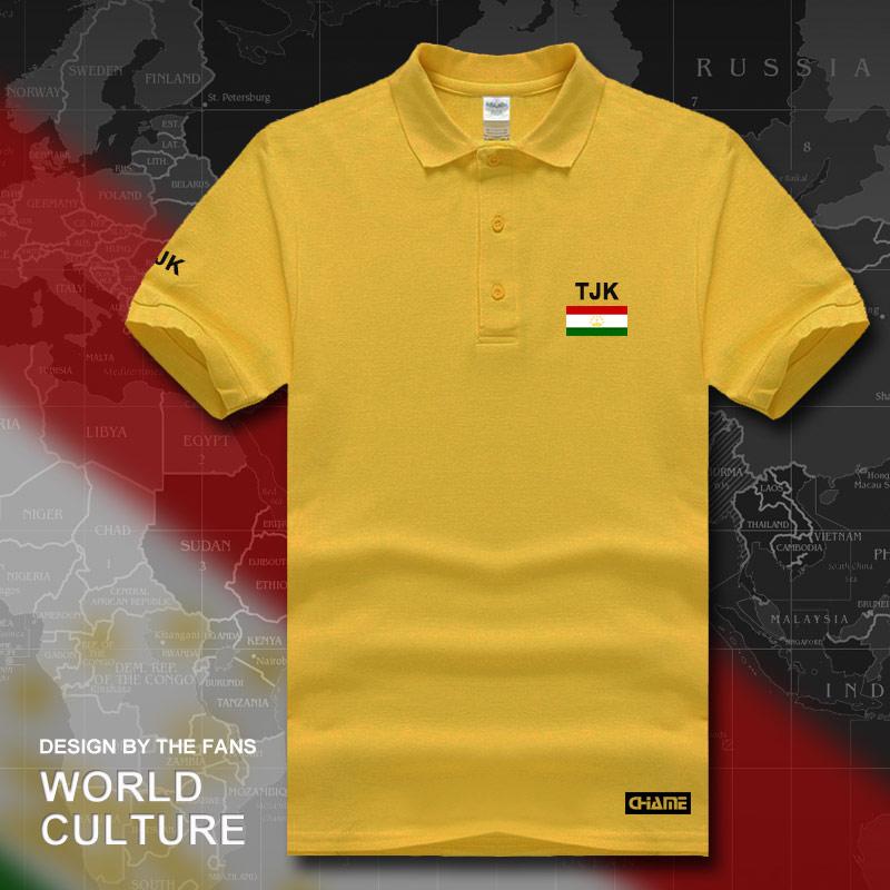 Tajikistan   polo   shirts men short sleeve white brands printed for country 2017 cotton nation team flag new fashion Tajik TJ