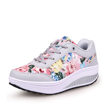 YeddaMavis Pink Platform Sneakers Women Shoes Spring New Wedges for Womens Woman Trainers