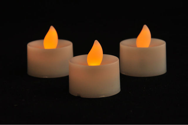 Flickering Votive Candle Dancing Flameless Led Tealight Bethlehem Lights Window Candles Battery Operated Wedding Decor Party