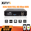 XINFI Newest Mini NVR Full HD 4 Channel 8 Channel Security Standalone CCTV NVR 1080P 4CH