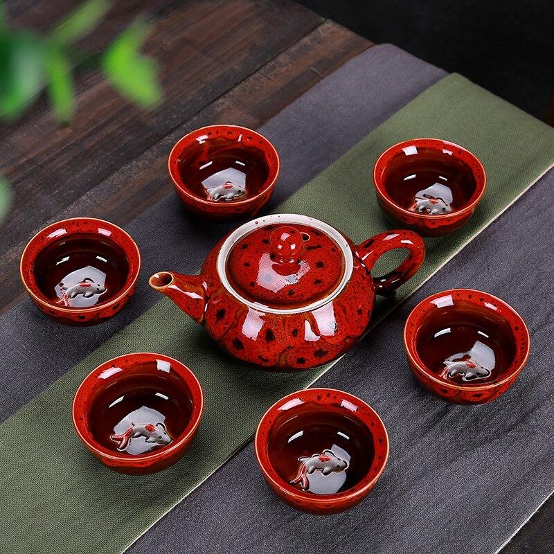Palace décoration céramique théière cafetière santé contenant de thé ensemble à boire Dessert thé noir